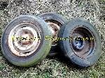 3 Jantes avec pneu 165SR15 (165SR380) offre Pièces détachées [Petites annonces Negoce-Land.com]
