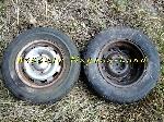 2 Jantes avec pneu 175SR14 d'occasion offre Pièces détachées [Petites annonces Negoce-Land.com]