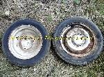 2 Gentes avec pneu 135 SR 15 (72 S) d'occasion offre Pièces détachées [Petites annonces Negoce-Land.com]