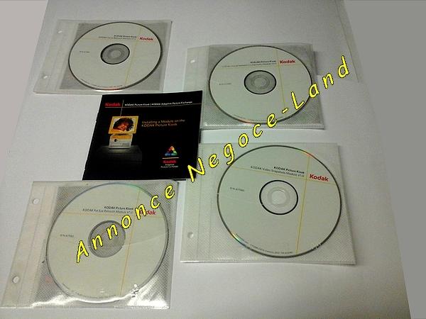 photo de 4 CD-Rom de modules & notices de Kiosk Photo Kodak  (Annonce Negoce-Land)