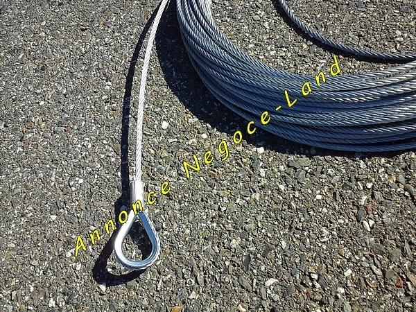 Image Câble de levage spécial monte matériaux pour 22m de haut lève charge 150kg [Petites annonces Negoce-Land.com]