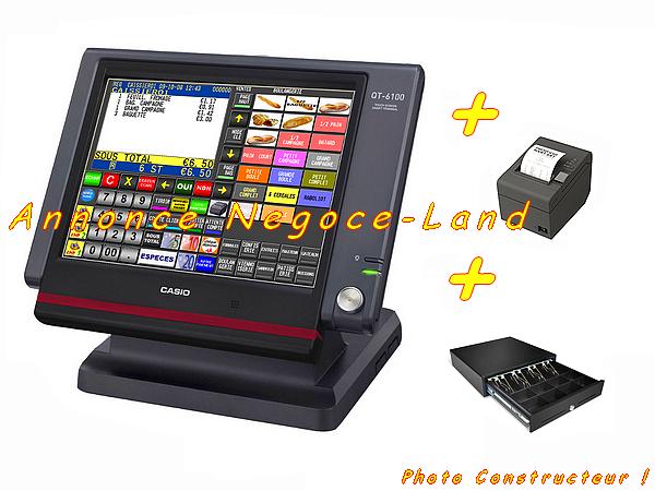 Image Pack caisse enregistreuse tactile Casio QT-6100 avec Logiciel son [Petites annonces Negoce-Land.com]