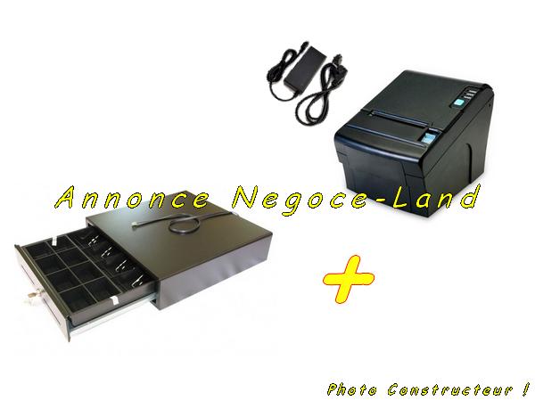 photo de Pack Tiroir Caisse & Imprimante Ticket termique Pos  (Annonce Negoce-Land)
