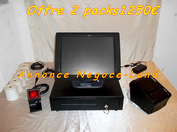 photo de 2 Pack caisse enregistreuse tactile SAGA Norme 2019  (Annonce Negoce-Land)