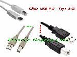 Câble USB 2.0 TYPE A/B pour Imprimante, Scanner, Modem, Hub, Photocopieur, Multifonctions, Traceur, Fax et divers offre Consommables [Petites annonces Negoce-Land.com]