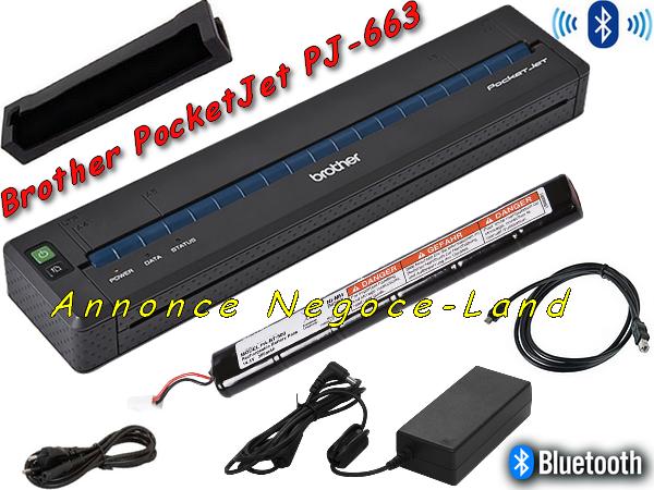 Image Imprimante thermique portable Brother Pentax PocketJet PJ-663 BlueTooth [Petites annonces Negoce-Land.com]
