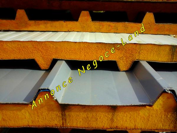 Image Panneau sandwich pour couverture isolée (Bac Acier isolé) [Petites annonces Negoce-Land.com]