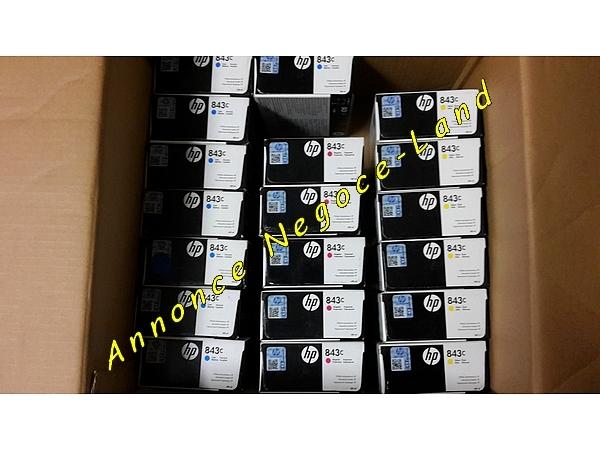Lot de 9 cartouches neuve HP 843c (originale) [Petites annonces Negoce-Land.com]