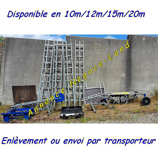 Monte tuiles Comabi Apache Edimatec Charge 150kg lève matériaux 20m max [Petites annonces Negoce-Land.com]