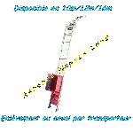 Monte charge lève tuiles & matériaux Huchez (16m prix livré) offre Levage - Manutention [Petites annonces Negoce-Land.com]