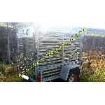 Remorque galvanisée porte panneaux avec frein  PTAC 1,250t offre Divers [Petites annonces Negoce-Land.com]