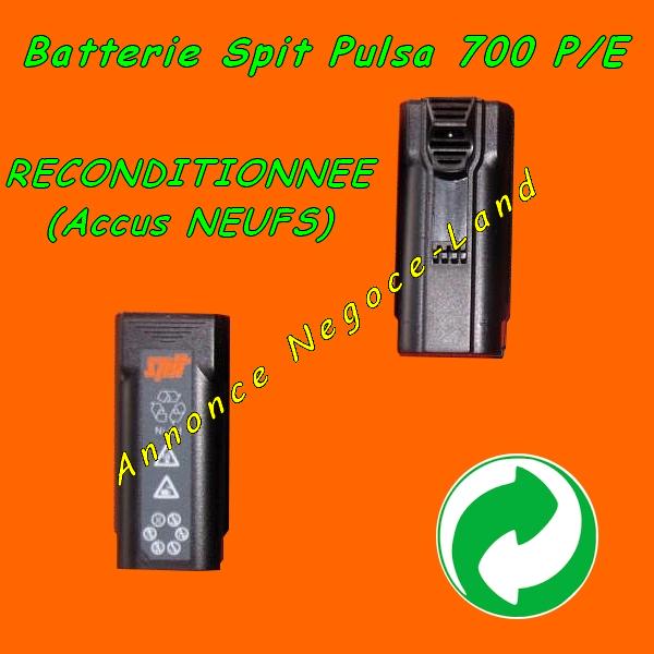 Batterie de cloueur Spit Pulsa 700 P/E Reconditionnée [Petites annonces Negoce-Land.com]