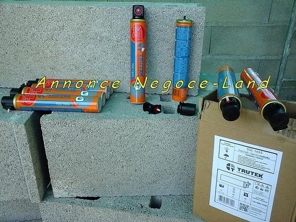 5 Cartouches gaz lubrifiées de cloueurs automatiques (Neuves) [Petites annonces Negoce-Land.com]